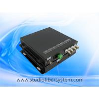 4ch analog video 1CH RS485 1 ethernet to fiber converter for CCTV surveillance system Manufactures