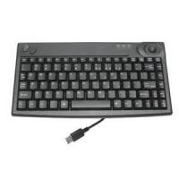 IP65 rated stainless steel industrial computer kiosk keyboard with trackball MKB-F86A-TB
