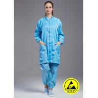 Quality ESD anti static cleanroom dust-free stand collar Labcoat coverall muticolor with for sale