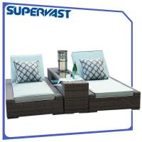 Luxury Living Garden Outdoor Patio Chairs Furniture PE Rattan Chaise Lounge With Cushion Manufactures