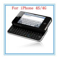 China Mini Slide Wireless Plastic Dust Prevention Portable Bluetooth Keyboard For Iphone 4 / 4S on sale