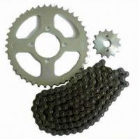 Motorcycle chain and sprocket, customized requirements are accepted Manufactures