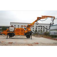 Diesel Robotic Shotcrete Machine Wireless Remote Control Rotate 360 Degree PLC Mode Manufactures