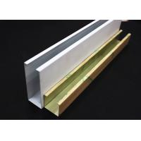 White Metal U-aluminum Profile Screen Ceiling , Hanging Ceiling Tiles Manufactures