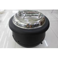 China Black Color Electric Soup Warmer / Stainless Steel Cover Single Phase 220V Volt on sale
