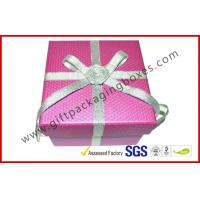 Handmade Texture Paper Gift Packaging Boxes , Custom Rigid Board Cup Gift Box with Ribbon Manufactures