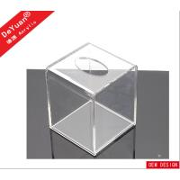 Quality Square Mini Transparent Facial Tissue Box , Acrylic Holder Stand For Hotel for sale