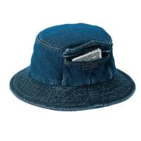 China Custom Pocket Cool Jean Bucket Hat For Four Season Personal Style SGS Certification on sale
