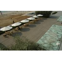 Solid WPC Decking Flooring With Grain Surface For Rest And Relax Manufactures
