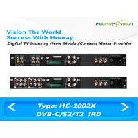 Free To Air Satellite Receiver Dual -Tuner Two CAMs SD IRD Input RF ASI  IP Output Manufactures