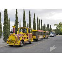 3kw Tourist Train Rides Sightseeing Roundhouse Trackless Trains Customized Size Manufactures