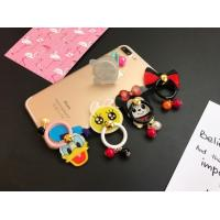 Cartoon Pearl Bracelet Phone Finger Ring Holder With Acrylic Candy Color Manufactures