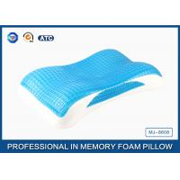 Wave Contour Memory Foam Cooling Gel Pillow with Luxury Tencel Pillow Cover Manufactures