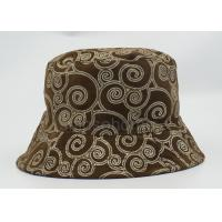 Leisure Fishing 100% Cotton Twill Bucket Hat Soft Full Printed With Golden Line Manufactures