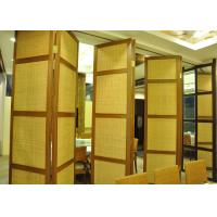 China Folding Hanging Sliding Door , 65mm Training Room Folding Partition on sale