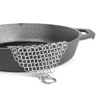 China 10mm circle stainless seel Chainmail Scrubber with hang part,cast iron cookware scrubber-best choice for cooking person. on sale