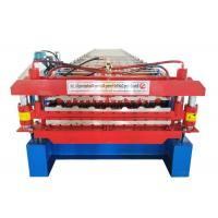 Weight 5.4T Glazed Tile Making Machine , Wall Sheet Roll Forming Machine ISO9001 Approved Manufactures