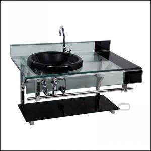 China South American Style Glass Vanity Brazil Astra Pettra Deckol Wash Basin Glass Gabinete Lavatório de vidro on sale