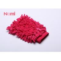 Quality Red Color Chenille Car Wash Mitt Strong Cleaning Performance 150 - 300g for sale