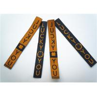 China Garment Clothing Label Tags Soft Printing Woven Fabric Decoration on sale