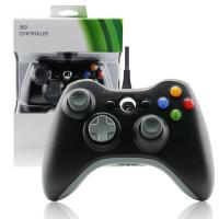 China Black XBOX 360 Game Controller Slim Wired Joystick ABS Material Comfortable Button on sale