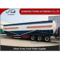 65cbm Bulk 3 Axles 80 Ton Silo Bulk Cement Tanker Trailer With Double Cabins Manufactures