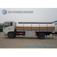 China Dong Feng Gasoline / Light Diesel 13m3 Stainless Steel Fuel Tank Truck 4x2 on sale