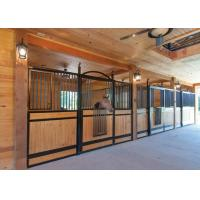 China Readymade Modular Horse Stall Kits, Bamboo / Pine Infill Equine Stall Fronts on sale