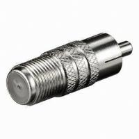 f female to rca male connector, multiple rca to f type connector Manufactures