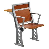 Cherry Wood Armed College Classroom Furniture / Student Chair With Fixed Table Desk Manufactures