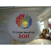 2.5m White advertising helium balloons with 2 sides digital printing for Sporting events Manufactures