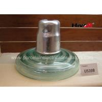 Zinc Sleeve Available Toughened Glass Insulator With Ball / Socket Connect Way Manufactures