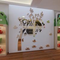 Quality China supplier Acrylic Mirror Wall Stickers /Adhesive Decor Wall music tree wall for sale