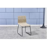 China cafe chair modern leather dining chair with metal legs on sale