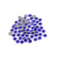 12 / 14 Facets Rimmed Rhinestones Lead Free Round Shape For Nail Art / Shoes Manufactures