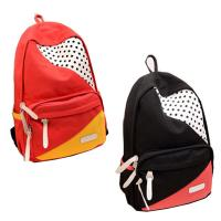 Fashionable Large Durable Backpack For High School Students , Red / Black / Yellow