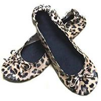 Fake Snake Skin of Folding Ballet Slippers Women with Compact Carrying Tote Bag for Dancing and Driving Manufactures