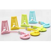 China Colorful TPE Data Charger USB Sync Cable 100cm For Samsung / IPOD With Stand on sale