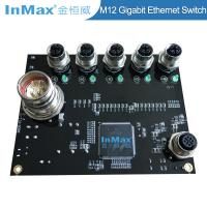 Buy cheap EN50155 EN505A Power M23 X-code 1000M M12 5 Port Gigabit Car Industrial Ethernet Switch from wholesalers