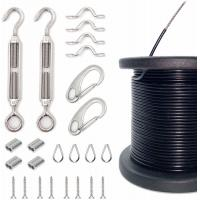 Buy cheap Outdoor Light Guide Wire Rope Assemblies With Turnbuckles And Hooks 110 Ft Cable from wholesalers