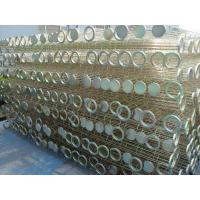 Galvanized / Silicon Industrial Dust Collector Filter Bag Cage , High Tensile Manufactures