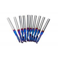 High Proformance Tungsten carbide one flute end mill with blue NANO coated. Manufactures