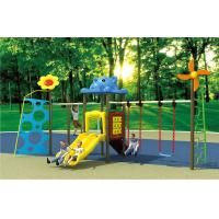 China small size kids fitness equipment outdoor swing sets with slide on sale