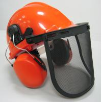 Safety Helmet, Face Shield and Ear Muff combination kit Forestry Safety Kit Manufactures