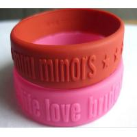 Embossed Logo Silicone Rubber Bands Colorful Durable Manufactures