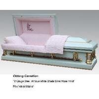 Oblong Carnation Casket Manufactures