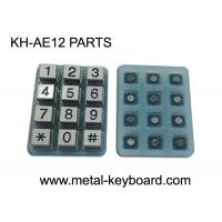 China Industrial 12 Keys Customizable Keypad Parts Silicon Membrane With Metal Buttons on sale