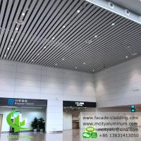 China White Fireproof Aluminum Ceiling Tiles , Aluminum Perforated Ceiling  Strip  Type  Interior Exterior Powder Coated on sale