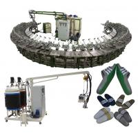 China Semiautomatic 24/36 mold station pu soles foam and pouring machinery on sale