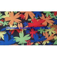 China Water Repellent Garment Poly Twill Fabric  Drill Microfiber Peach Skin Floral Printing on sale